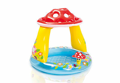 Intex Inflatable Mushroom Water Play Center Kiddie Baby Pool for Ages 1-3