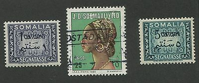 Somalia #521, #j55 & #j57 Mint & Used