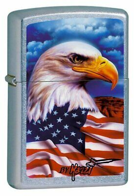 Zippo Lighter Claudio Mazzi, Freedom Watch, USA American Flag, w/Eagle #24764