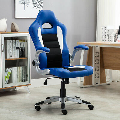 Gaming Office Chair Racing Bucket Seat High Back Ergonomic Computer Flip Armrest