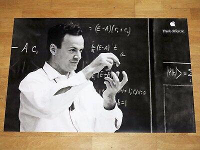 APPLE THINK DIFFERENT POSTER - RICHARD FEYNMAN 24 x 36 by STEVE JOBS 24x35 4/5in