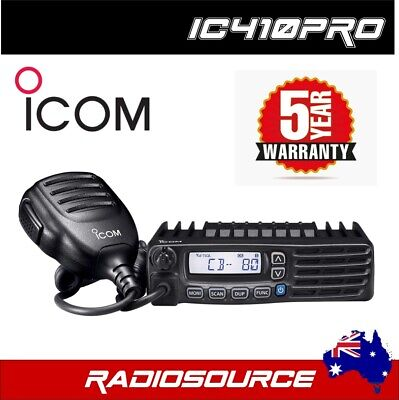 ICOM IC-410PRO 80 CH UHF CB TWO WAY RADIO IC 410 PRO IC410PRO 5 Watt