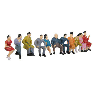 50pcs Mixed Painted Model Trains People Seated Passengers Figures O Scale