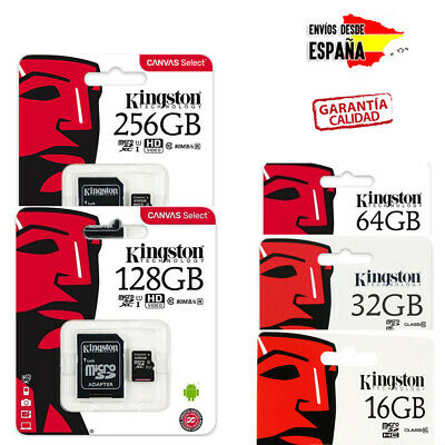 Tarjetas De Memoria Kingston Micro Sd Clase 10 16Gb 32Gb 64Gb 128Gb 256Gb