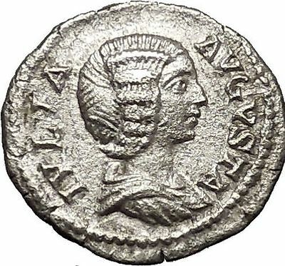 JULIA DOMNA 196AD Ancient Silver Roman Coin Felicitas Good luck Cult i53241