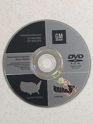 GM GENERAL MOTORS NAVIGATION DISC DVD 15105609 United States Canada ...