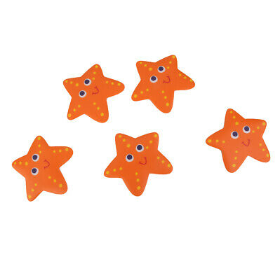 5Pcs Starfish Safety Bath Tub Treads Non Slip Applique Stickers Bathroom Mat