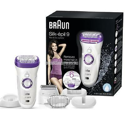 Braun Silk Epil 9 9-561 Wet & Dry Cordless Epilator with 6 Extras Attachments