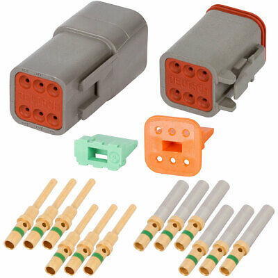 DT Enhanced Seal 4 Pin Black Connector Kit w// 14 AWG Solid Contacts