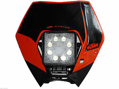 LED Insert KTM Head light lamp Supermoto Dual Sport 250 lens 450 530 XC EXC XCW