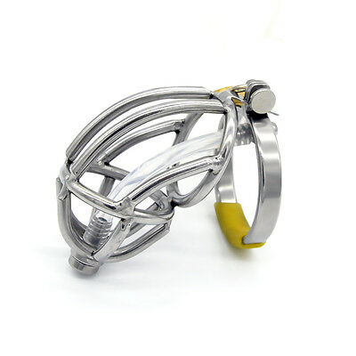 Stainless steel Male Chastity Device Silicone Tube A143