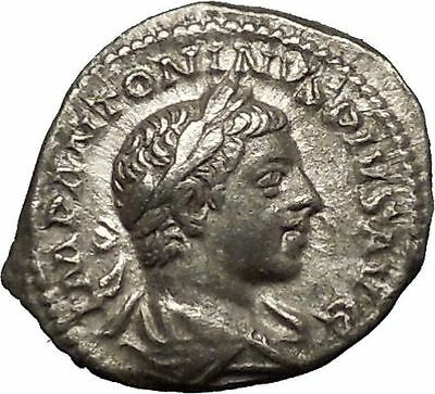 Elagabalus Bisexual Emperor 220AD Silver Ancient Roman Coin Victory i53212