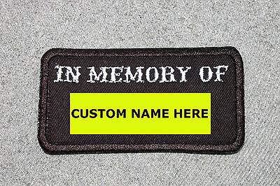 Customized IN MEMORY OF Patch, Biker Vest Motorcycle Patch, Memorial
