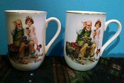 2 coffee cups mugs Norman Rockwell Museum The Cobbler