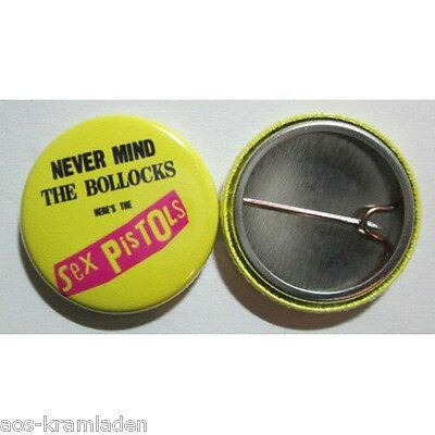 Never Mind The Bollocks Here's The Sex Pistols - Button 25mm - Punk Kult