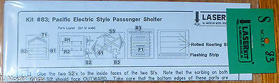 American Model Builders #83 Pacific Electric Styel Pass. Shelter Kit (S Scale)