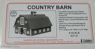 American Model Builders #87 Country Barn (kit)  (S Scale)