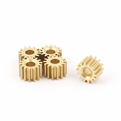 5Pcs 7.8mmx3.17mm 14 Teeth Brass Thick Motor Spindle Spur Gear for DIY Robbot