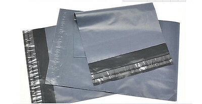 Brand New STRONG GREY PLASTIC MAILING BAGS POLY POSTAGE  SELF SEAL - ALL SIZES