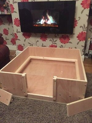 "whelping box 48"" x 36"" wooden whelping box collection only"
