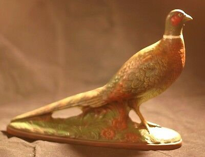 Ceramic Ring Neck Pheasant Statue Figurine Hunting Cabin Decor