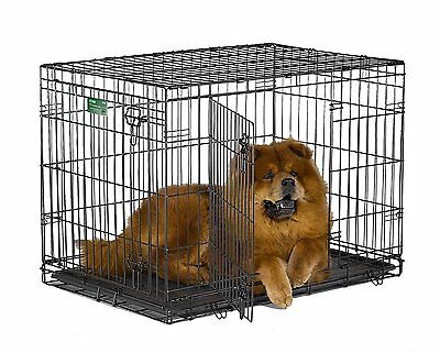 """MidWest iCrate Double-Door Folding Metal Dog Training Crate, 36"""" x 23"""" x 25"""" NEW"""