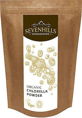 Organic Broken Cell Wall Chlorella Powder | Detox, Diet by Sevenhills Wholefoods