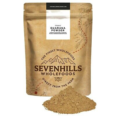 Sevenhills Wholefoods Organic Raw Guarana Powder | Energy, Detox, Diet