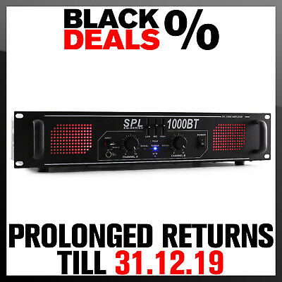 New Hifi Amplifier Pa Sound System 1000W Bluetooth Dj Aux 2 Channel Amp