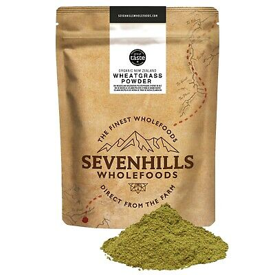 Sevenhills Wholefoods Organic New Zealand Wheatgrass Powder | Diet, Cleanse