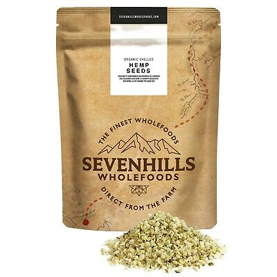 Sevenhills Wholefoods Organic Raw Shelled Hemp Seeds | Protein, Fitness