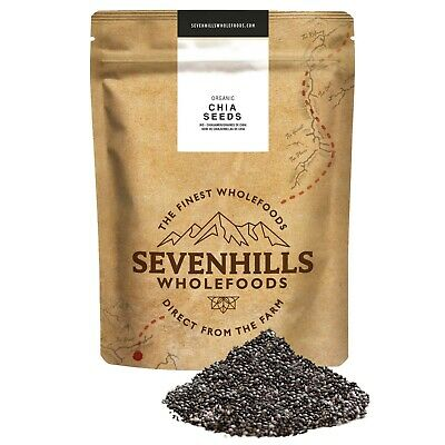 Organic Raw Chia Seeds | Weight loss, Diet, Energy - by Sevenhills Wholefoods