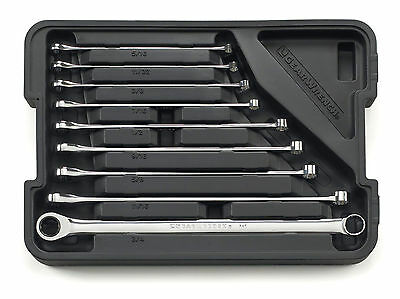KD GearWrench 85998 9pc XL SAE Gearbox Ratcheting Wrench Set
