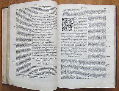 Post Incunable Plinius Secundus Venice Folio  1510