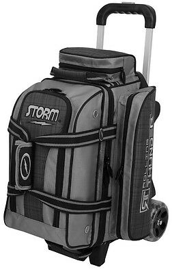 Storm Rolling Thunder Black/Plaid 2 Ball Roller Bowling Bag