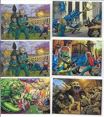 Topps Mars Attacks Invasion Gold Parallel Cards You Pick $4.00 Each