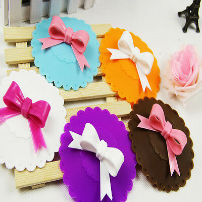 Cute Bowknot Bow Silicon Anti-dust Mug Cap Cup Glass Lid Leakproof Cover Gift