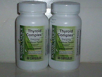 Thyroid Complex Best Botanic Choice Supplement Energy Support 120 Caps 2 Bottles