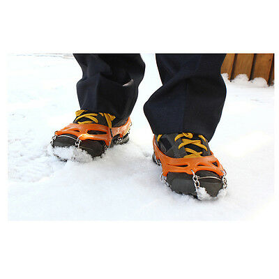 Anti Slip 12-Teeth Ice Snow Shoes Spike Grip Boots Chain Crampons Grippers Hot