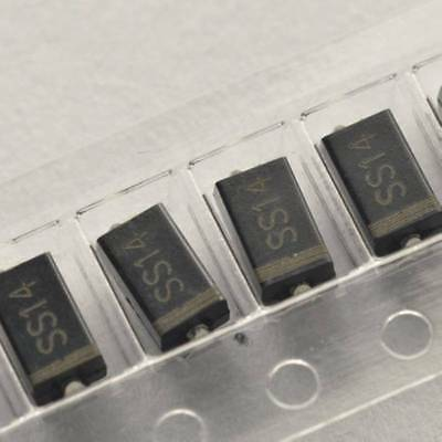 50PCS SS14 1N5819 IN5819 1A/40V SMA DO-214AC SMD Schottky Diodes