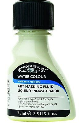 Reeves 75ml Winsor and Newton Watercolor Art Masking Fluid Yellow Yellow