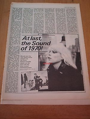 BLONDIE THE SOUND OF 1970 1 page ARTICLE / clipping 1979