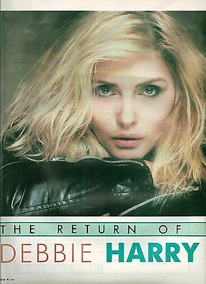 BLONDIE Debbie Harry The Return 4 page magazine Article / Clipping