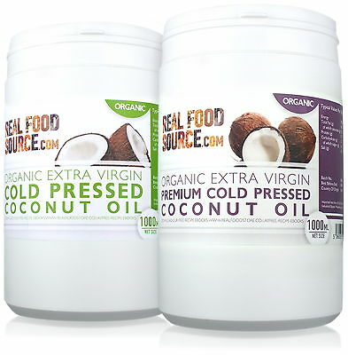 RealfoodSource Certified Organic Cold Pressed Coconut Oil COMBO 2 Litres