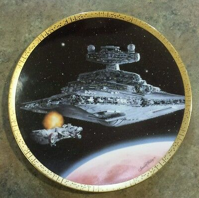 Star Wars Collector Plate Star Destroyer Space Vehicles Hamilton Collection 1995