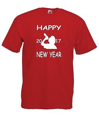 HAPPY NEW YEAR 2017  funny xmas christmas party tee idea mens womens T SHIRT TOP