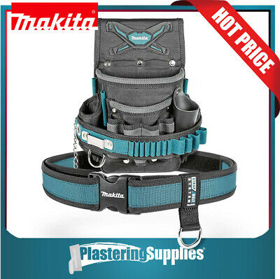 Makita 2 Pocket Electrician's Pouch  + Quick Release Tool Belt P-80569 P-71825