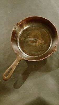 Vintage 8 Inch H7 Cast Iron Frying Pan Skillet Kitchen Cookware