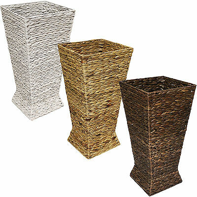 Hartleys Woven Wicker Hallway Umbrella Basket Stand/walking Stick Rack/holder