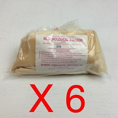 (6) Totex 200 Gram Meteorological Balloons Kaymont Consolidated Industries